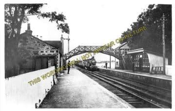 Auchnagatt Railway Station Photo. Arnage - Maud. Ellon to Fraserburgh Line. (2)