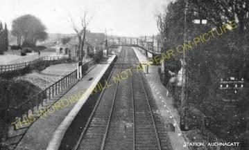 Auchnagatt Railway Station Photo. Arnage - Maud. Ellon to Fraserburgh Line. (3).