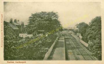 Auchnagatt Railway Station Photo. Arnage - Maud. Ellon to Fraserburgh Line. (4).