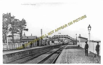 Auchterless Railway Station Photo. Fyvie - Turriff. Inveramsay to Macduff. (1).
