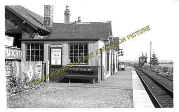 Auchtermuchty Railway Station Photo. Ladybank - Strathmiglo. Mawcarse Line. (1)..