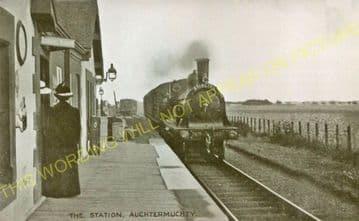 Auchtermuchty Railway Station Photo. Ladybank - Strathmiglo. Mawcarse Line. (3)