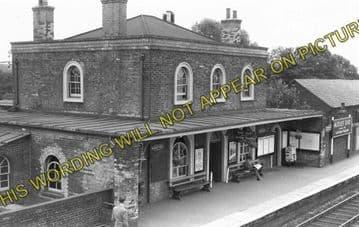 Audley End Railway Station Photo. Newport - Saffron Walden Line. (1)
