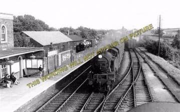 Audley End Railway Station Photo. Newport - Saffron Walden Line. (3)