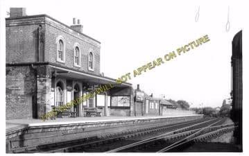 Audley End Railway Station Photo. Newport - Saffron Walden Line. (6)