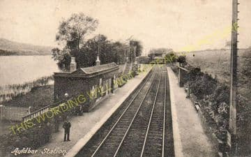 Auldbar Road Railway Station Photo. Guthrie - Clocksbriggs. Forfar Line. (4).