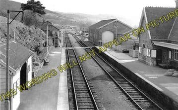 Axbridge Railway Station Photo. Winscombe - Cheddar. Yatton to Wells Line. (2)