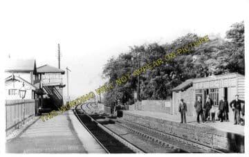 Aycliffe Railway Station Photo. Darlington - Bradbury. Durham Line. (1)