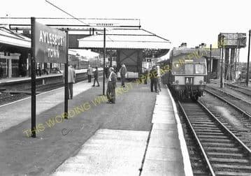 Aylesbury Joint Railway Station Photo. Stoke Mandeville - Waddesdon Manor. (16)