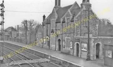 Aylesford Railway Station Photo. Maidstone - Snodland. Rochester Line. SECR (4)