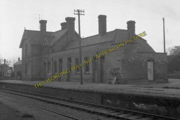 Aylsham South Railway Station Photo. Cawston - Buxton Lamas. Wroxham Line. (1)