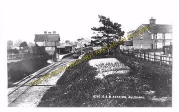 Aylsham South Railway Station Photo. Cawston - Buxton Lamas. Wroxham Line. (5)