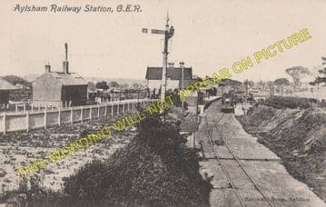 Aylsham South Railway Station Photo. Cawston - Buxton Lamas. Wroxham Line. (6)