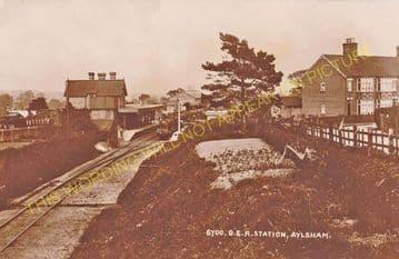 Aylsham South Railway Station Photo. Cawston - Buxton Lamas. Wroxham Line. (7).