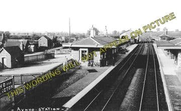 Aynho Railway Station Photo. King's Sutton - Fritwell. Banbury to Oxford. (1)