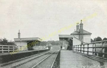 Ayot Railway Station Photo. Welwyn - Wheathampstead. Luton Line. Midland Rly (2).