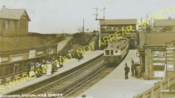 Backworth Railway Station Photo. Newcastle - Whitley Bay. North Eastern Rly. (5)