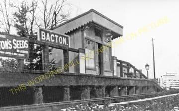 Bacton Railway Station Photo. Abbeydore - Vowchurch. Peterchurch Line. (2)