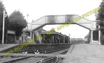 Bagshot Railway Station Photo. Ascot & Sunninghill - Camberley. Frimley Line (2)