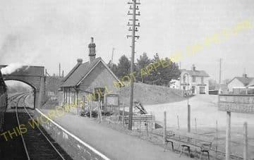 Bailey Gate Railway Station Photo. Spetisbury - Broadstone Junction. S&DJR (16).