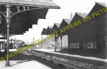 Bakewell Railway Station Photo. Hassop -  Rowsley. Buxton to Cromford Line. (1)..