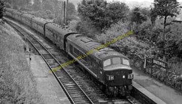 Bakewell Railway Station Photo. Hassop -  Rowsley. Buxton to Cromford Line. (15)