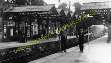 Bakewell Railway Station Photo. Hassop -  Rowsley. Buxton to Cromford Line. (4)