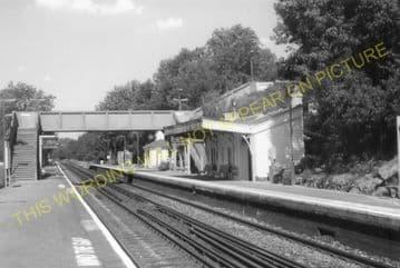 Balcombe Railway Station Photo. Haywards Heath - Three Bridges. LB&SCR. (8)