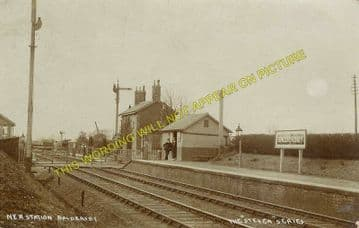 Baldersby Railway Station Photo. Melmerby - Topcliffe. Ripon to Thirsk Line. (2)