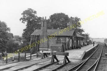 Baldock Railway Station Photo. Ashwell - Letchworth. Royston to Hitchin Line (5)