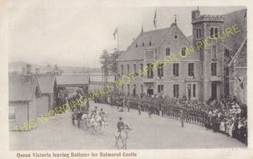 Ballater Railway Station Photo. Cambus O'May, Aboyne, Banchory and Aberdeen (11)..