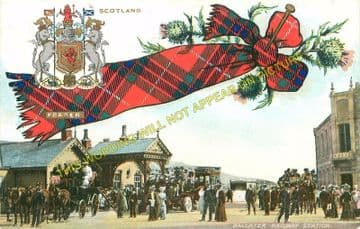 Ballater Railway Station Photo. Cambus O'May, Aboyne, Banchory and Aberdeen (6)