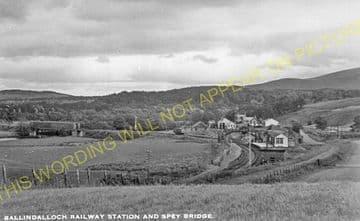 Ballindalloch Railway Station Photo. Advie - Blacksboat. Grantown Line. (4)
