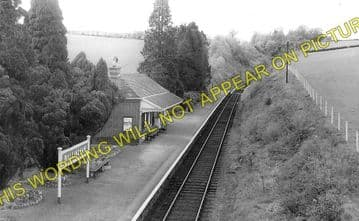 Ballingham Railway Station Photo. Holme Lacy - Fawley. Hereford to Ross. (1)