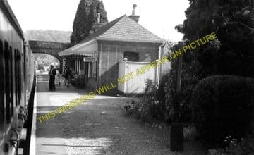 Ballingham Railway Station Photo. Holme Lacy - Fawley. Hereford to Ross. (5)