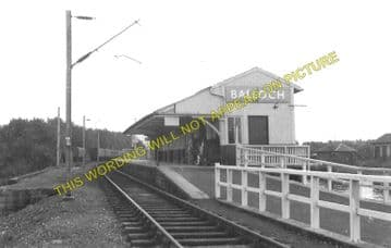 Balloch Pier Railway Station Photo. Alexandria and Dumbarton Line. D&BJR (4)