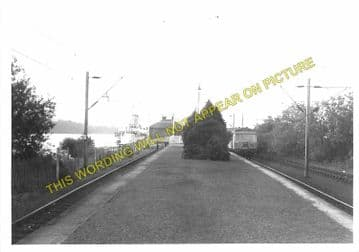 Balloch Pier Railway Station Photo. Alexandria and Dumbarton Line. D&BJR (5)