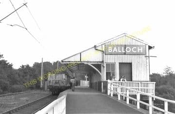 Balloch Pier Railway Station Photo. Alexandria and Dumbarton Line. D&BJR. (9)