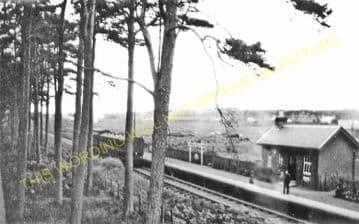 Balnacoul Railway Station Photo. Orbliston - Fochabers. Highland Railway. (1)..