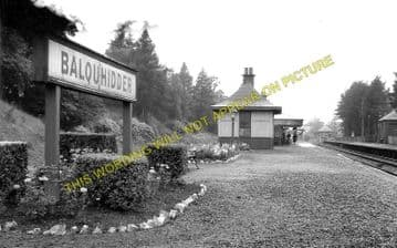 Balquhidder Railway Station Photo. Kinghouse to Lochearnhead and Killin (3)
