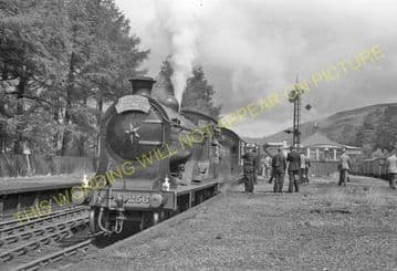 Balquhidder Railway Station Photo. Kinghouse to Lochearnhead and Killin. (9)