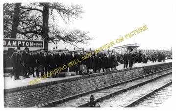 Bampton Railway Station Photo. Brize Norton. Witney - Alvescot. (4)