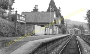 Bampton Railway Station Photo. Dulverton - Tiverton. GWR. (16)