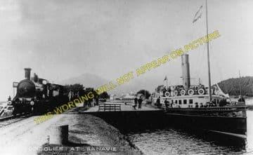 Banavie Pier Railway Station Photo. Fort William Line. North British Railway (2)..