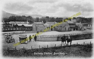 Banchory Railway Station Photo. Crathes - Glassel. Culter to Ballater Line. (5)