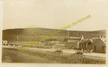 Banchory Railway Station Photo. Crathes - Glassel. Culter to Ballater Line. (6)