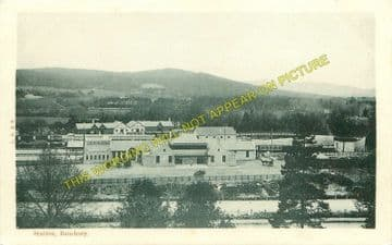 Banchory Railway Station Photo. Crathes - Glassel. Culter to Ballater Line. (7)