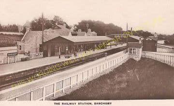 Banchory Railway Station Photo. Crathes - Glassel. Culter to Ballater Line. (9)