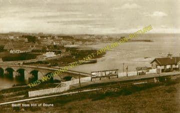 Banff Bridge Railway Station Photo. Macduff - King Edward. Plaidy Line. (1)