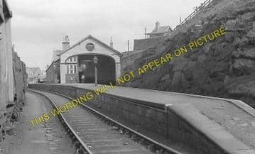 Banff Railway Station Photo. Ladysbridge and Tillynaught Line. GNSR. (6)